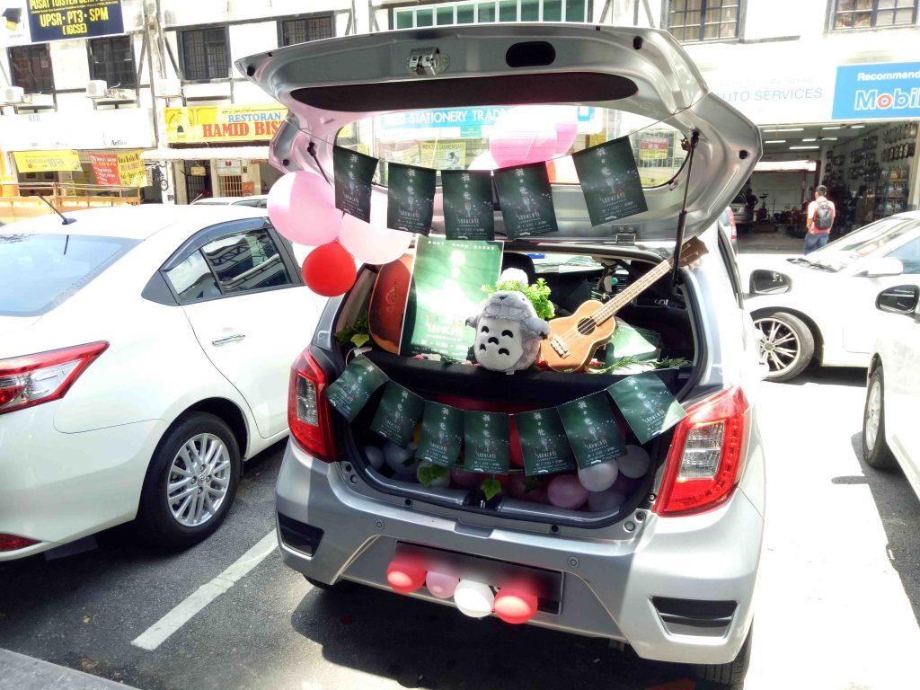 我光车队宣传摄理音乐会之炫丽车尾箱